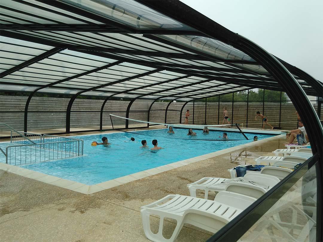 Animations piscine chauffée camping plage Morbihan