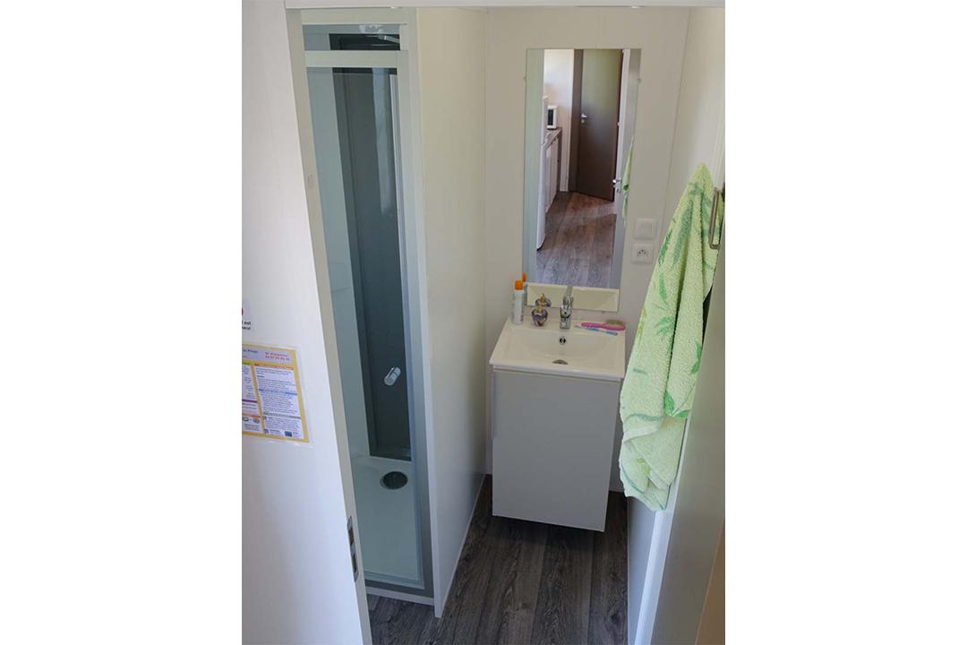 Mobil-home eco salle de bain