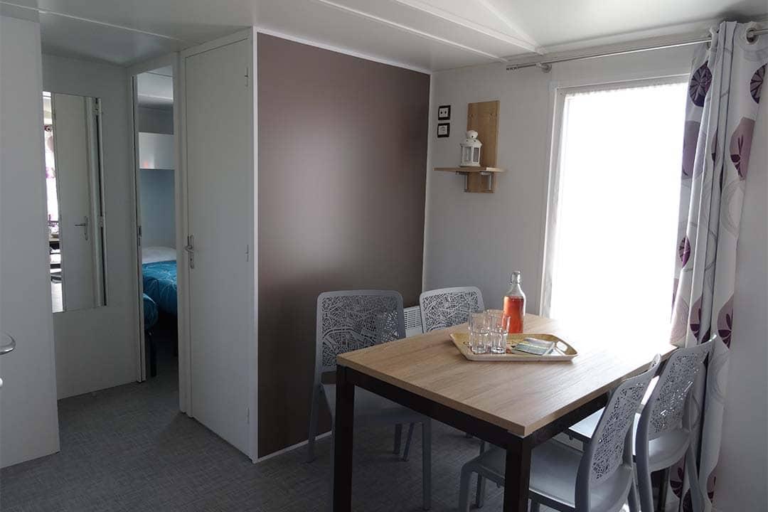 Mobil-home Famille 3 chambres salle à manger