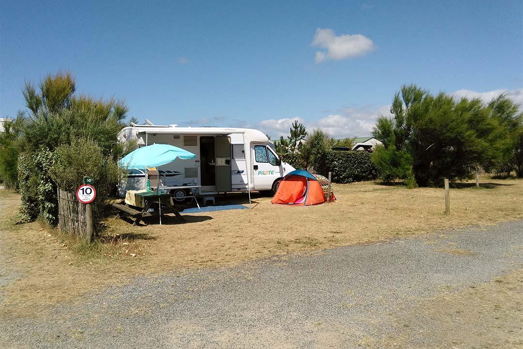 Emplacement caravane Camping de la plage Guidel