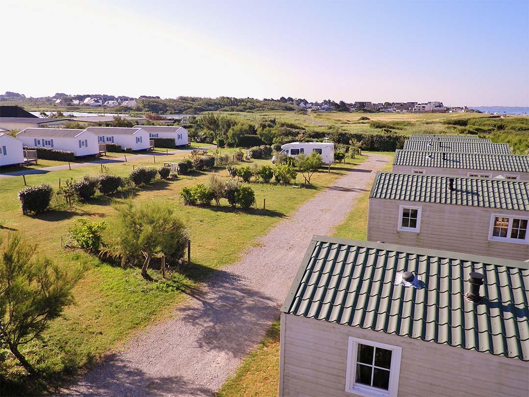Vue aérienne Camping de la plage Guidel