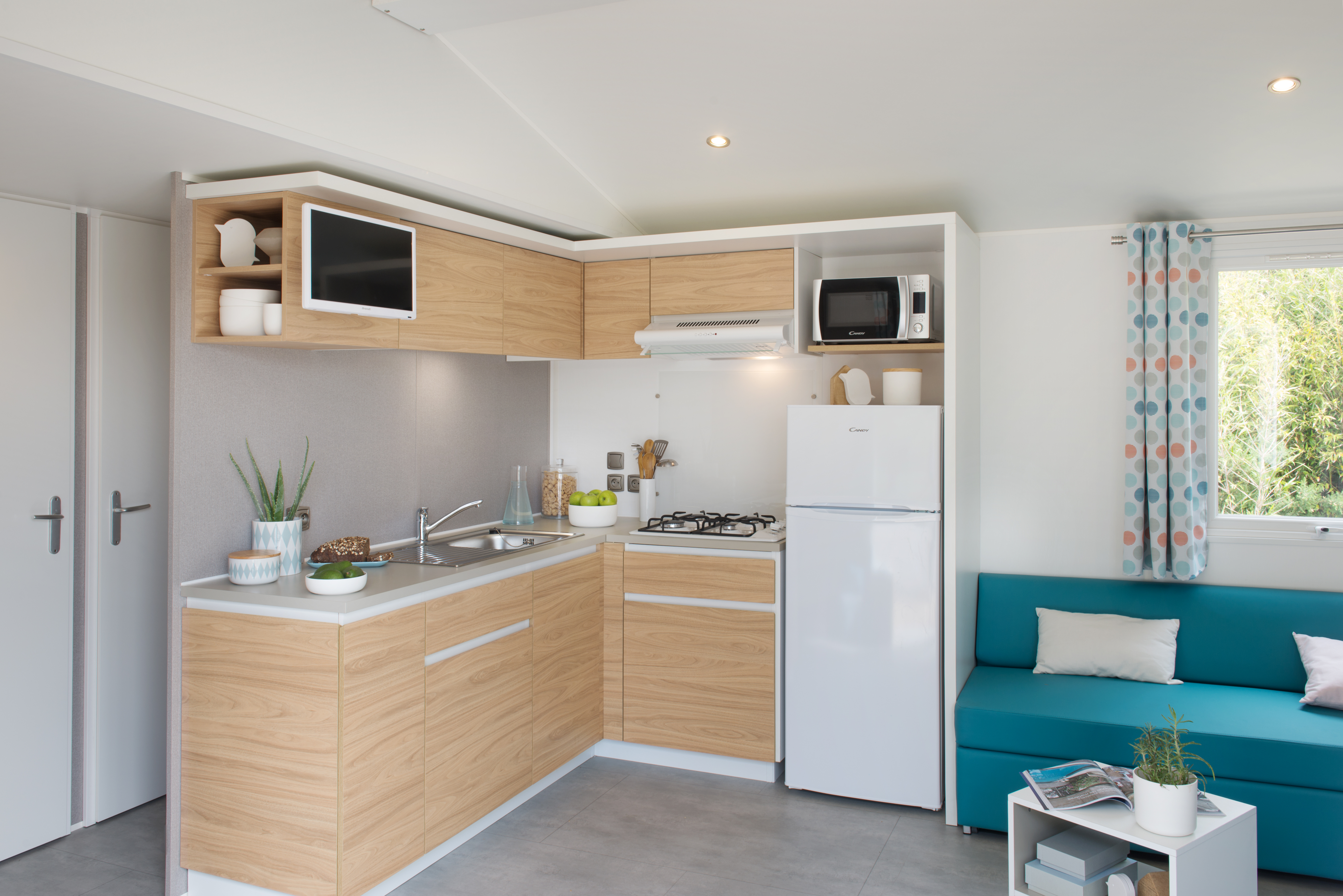 Mobil-home Famille 3 chambres *- cuisine