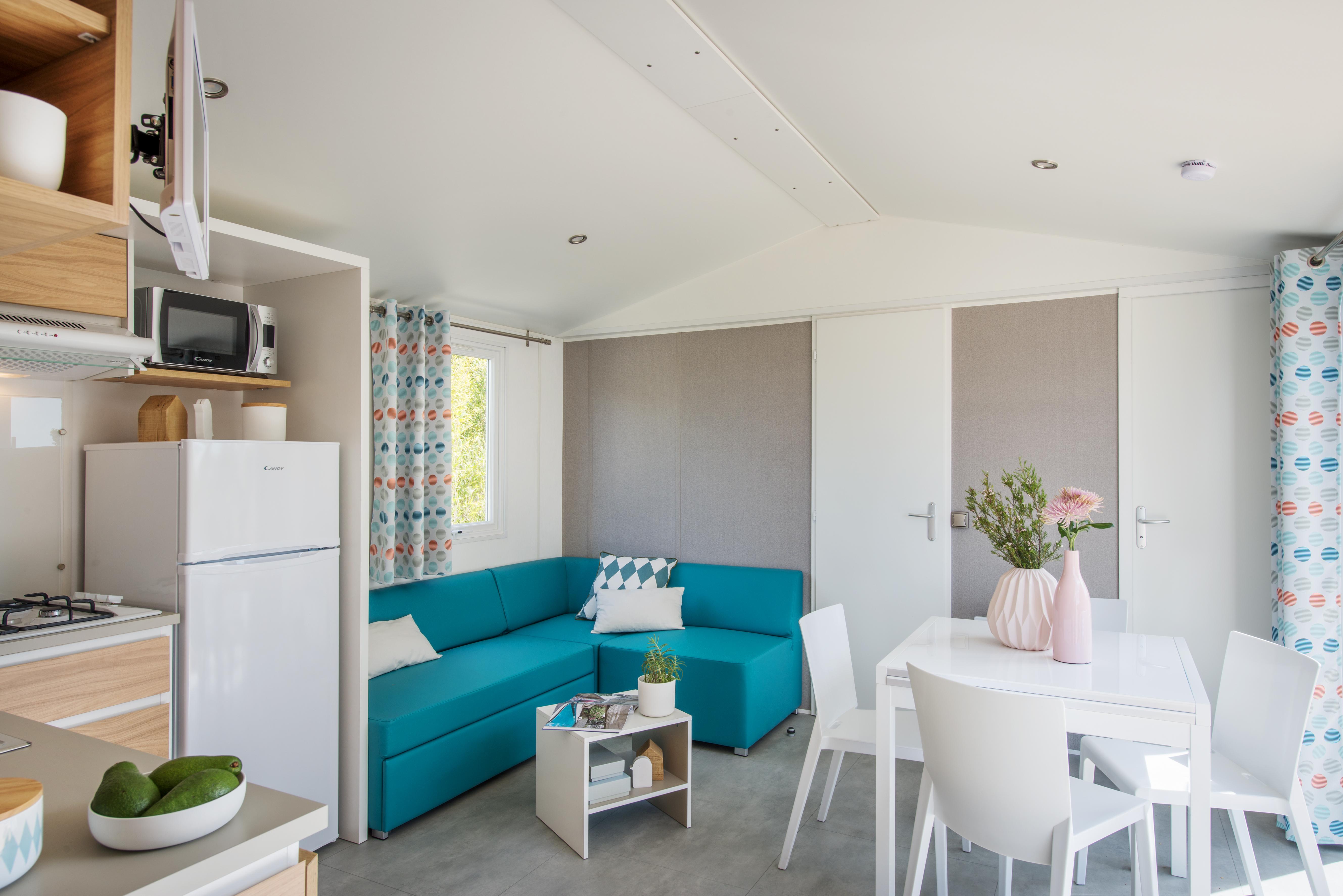 Mobil-home Famille 3 chambres - salon