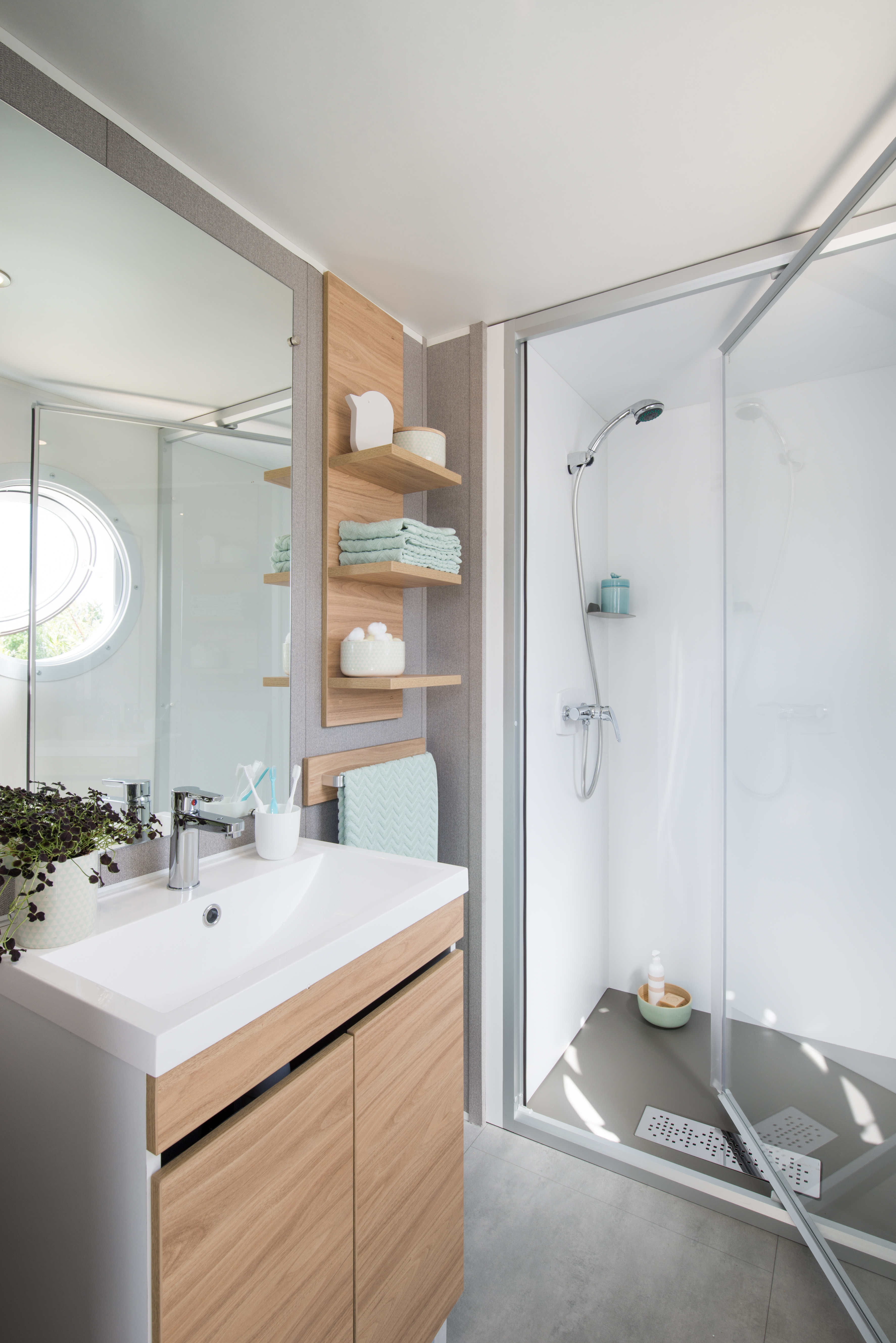 Mobil-home Famille 3 chambres - Salle de bain