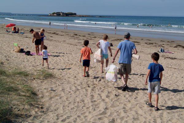 La plage de fort bloqué
